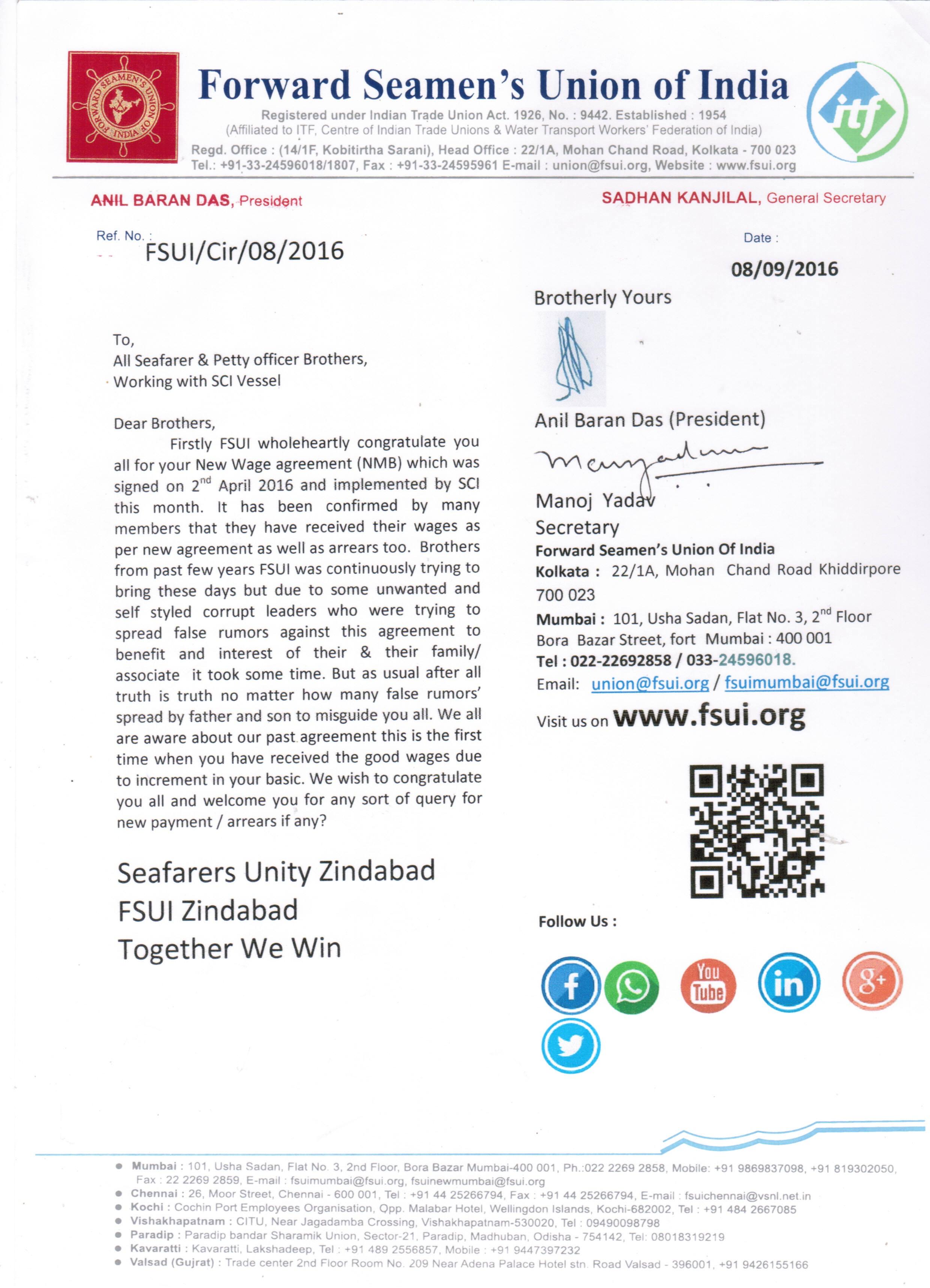 Forward Seamens Union Of India
